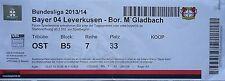 TICKET 2013/14 Bayer 04 Leverkusen - Mönchengladbach