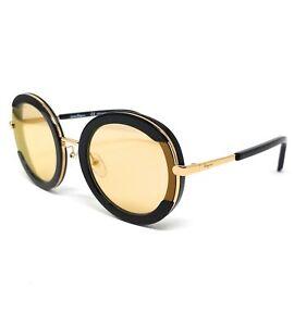 Salvatore-Ferragamo-Sunglasses-SF164S-001-25-Round-Women-039-s-56x25x140