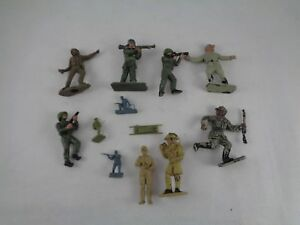 Vintage-4-x-Lone-Star-Harvey-Series-and-8-X-other-brands-Toy-Soldiers