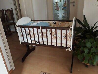 Baby-Beistellbett //Stubenwagen Babybett mit Ausstattung Nestchen Matratze Stange