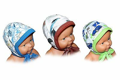 NEW Baby Boy Hat Beanie Quality Cotton Funky Retro Made in EU Cute Patterns