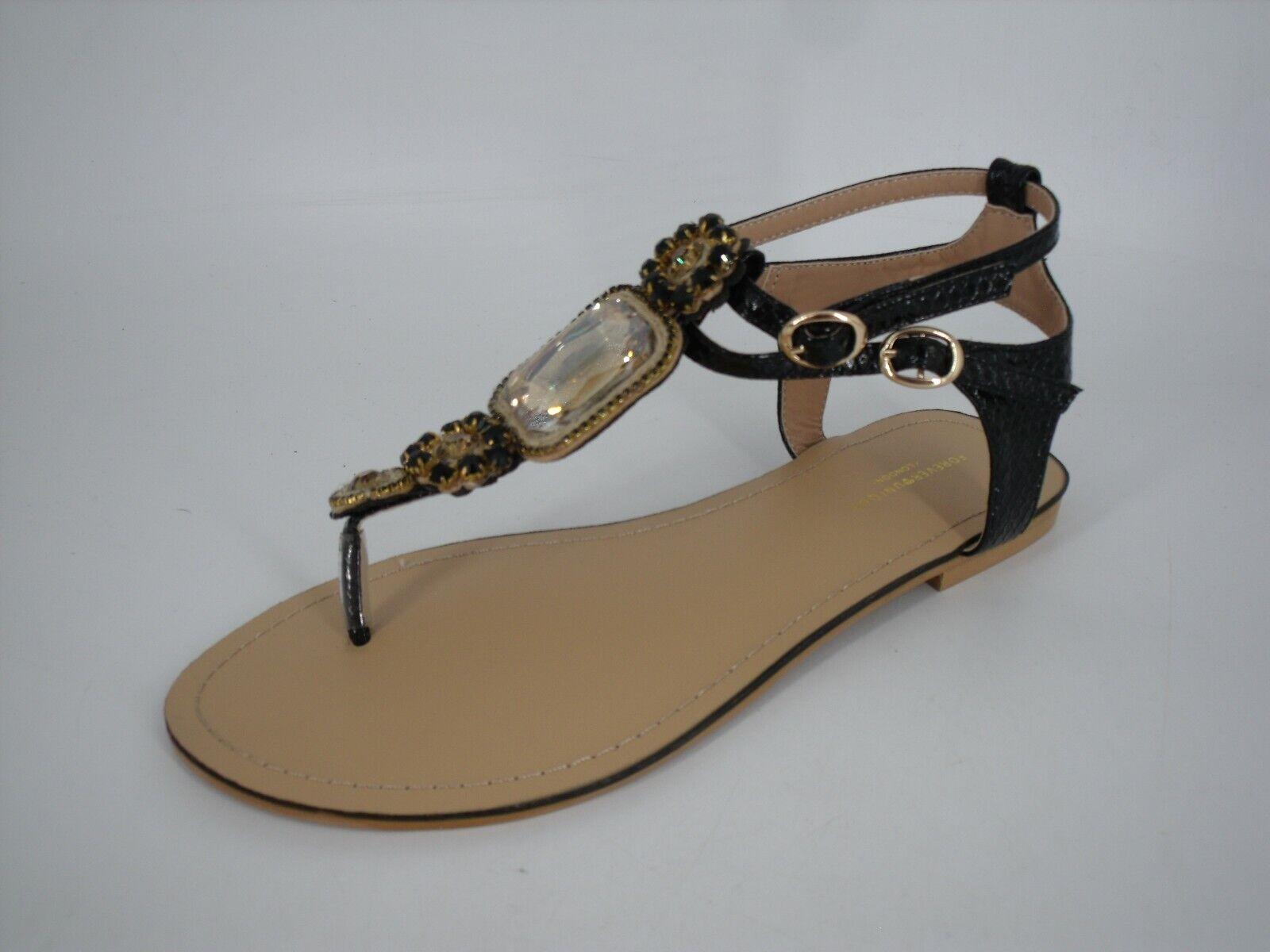 Forever Unique Corey Embellished Toepost Flat Sandals Größe UK 5 EU 38 NH13 79