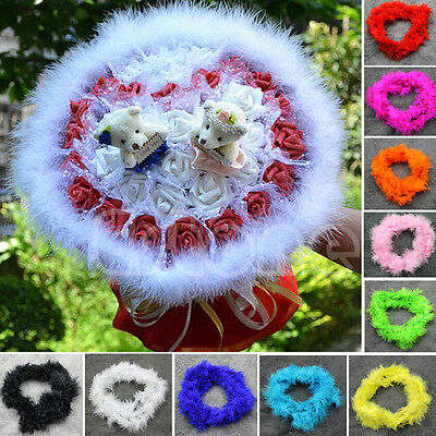 New Colorful 2Meters Marabou Feather Boa For Burlesque Fancy Dress Party Boas