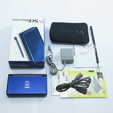 Brand New Cobalt Blue & Black Nintendo DS Lite HandHeld Console System with gift