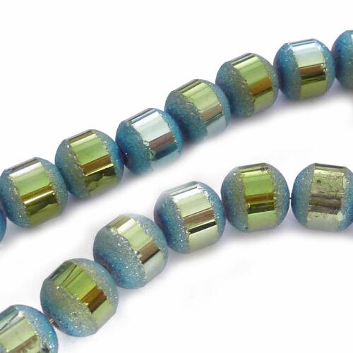 Bleu Vert Perles Spacer Nenad-Design Environ 65 Stardust Perles De Verre Environ 7,3 mm Couleur