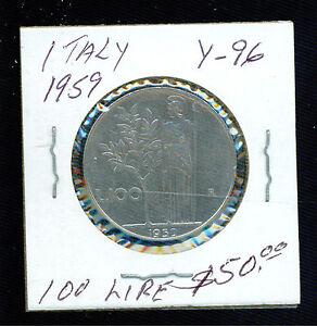 1959 Italie 100 Lire Y 96 Pièce De Monnaie Mmsqze7o-07225220-571209515
