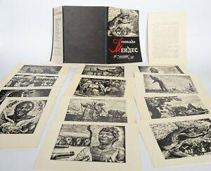 Leopoldo-MENDEZ-Anti-Colonial-Patriotic-Propaganda-MEXICO-Set-12-postcards-USSR