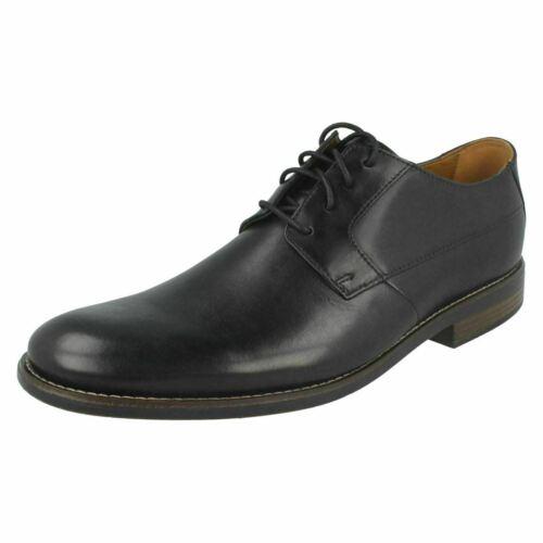Clarks Becken pour homme uni en cuir souple élégant Formel Travail Fête Lace Up Chaussures