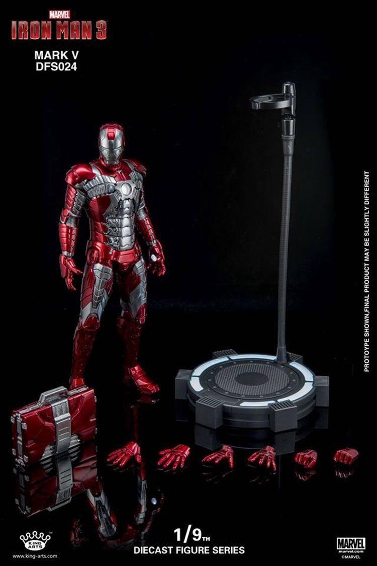 1 9 Rey Artes Diecast Aleación Iron Man 3 MK5 Mark 5 Figura De Colección DFS024