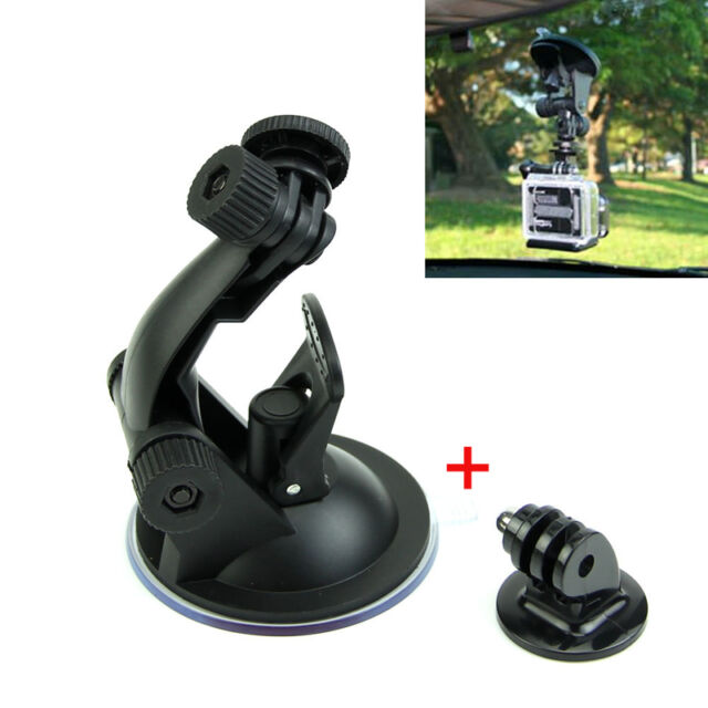 Car Suction Cup Windshield+ Adapter For Gopro Hero 3+ 4 Session Camera Accessory