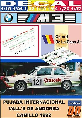 Accurato Decal Bmw M3 E30 G.de La Casa Pujada Andorra 1992 (01)