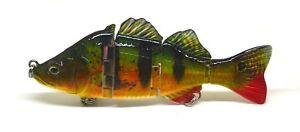 4inch Largemouth Bass Pike Muskie Lure Fishing Bait Life-like Yellow Perch