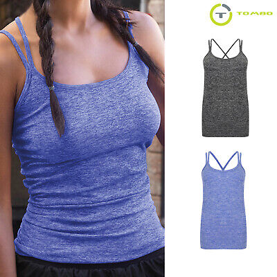 tl303 Casual Blouse Tank Top Beautiful And Charming Tombo Women's Summer Seamless Strappy Vest Top