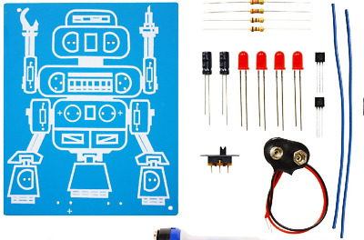 A good classroom STEM project K-5117 LED ROBOT BLINKER DIY KIT solder version