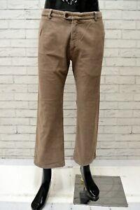 Pantalone-Uomo-VERSACE-Taglia-38-Jeans-Pants-Man-Cotone-Regular-Corto-a-Costine