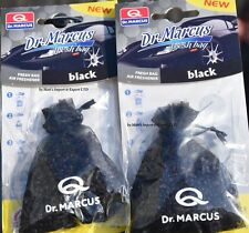 2x BLACK Hanging FRESH BAG Dr.MARCUS New CAR Air FRESHENER scent PERFUME STRONG