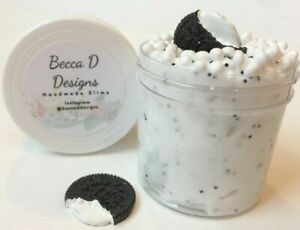 SLIME-OREO-COOKIE-Scented-Hand-Made-in-USA-crunchy-floam-free-charm-2-4-6-8-OZ
