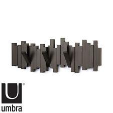 Clothes Hanger Storage Rack Umbra Sticks 5 Hook Wall Mounted Plastic Coat  Scarf