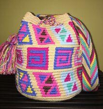 Colombian Handmade Wayuu Small Medium Mochila Bag shoulder Crossbody Pastel