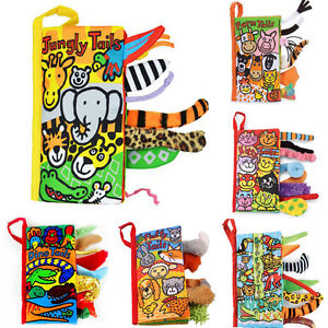 Animal-Tails-Cloth-Book-Baby-Toy-Cloth-Development-Books-Learning-Education-Gift