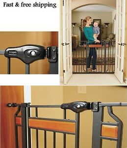 Image Is Loading Extra Tall Walk Thru Safety Gate Baby Indoor