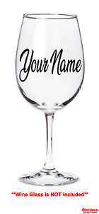 YOUR-TEXT-Vinyl-Decal-Wine-Glass-Sticker-Window-Bumper-CUSTOM-Personalized-Name
