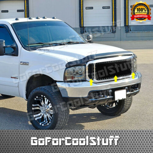 For 1999-2004 Ford F250//350 SuperDuty Black Wire Mesh Rivet Stud Grille Insert