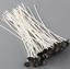 50-Pcs-15cm-Kerze-Dochte-Baumwolle-Kern-gewachst-Docht-mit-Metall-Erhalter-DIY Indexbild 2