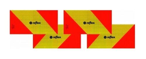 Heckwarntafel magnetisch ECE 70.01 Zugmaschinen 282x130 4 Stück Markierung