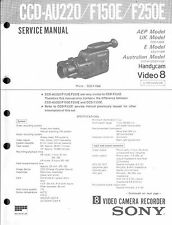 Sony Original Service Manual  für Handycam Video 8 CCD- AU 220 / F 150E/ F 250E
