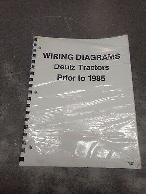 WIRING DIAGRAMS FOR DEUTZ TRACTORS 70276487 EBay