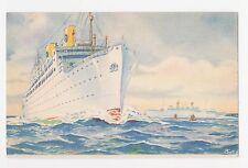 S.S.Kungsholm/Gripsholm,Ocean Liner,Swedish-Amer.Line,Used,2 Sweden Stamps,c.'30