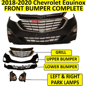 2018 2019 2020 fit CHEVROLET CHEVY EQUINOX FRONT BUMPER  Upper Lower Grill Lamps