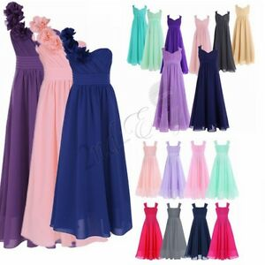 Pageant-Flower-Girls-Dress-Kids-Birthday-Wedding-Bridesmaid-Gown-Formal-Dresses