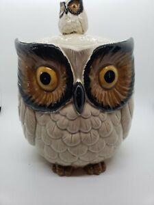 Vintage-1960s-OWL-Cookie-Jar-Baby-Pottery-Set