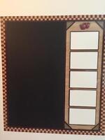 Country Apple Chalk Board & Photo Holder Frame Refrigerator Magnet Kitchen Decor