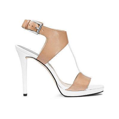 MICHAEL Michael Kors Nanette Sandal Nude/Optic Women Sizes 6-11 Brand New Leathe