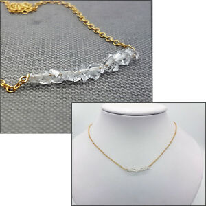 925-Sterling-Silver-or-14Ct-gold-filled-Herkimer-Diamond-Crystals-Necklace-Gift