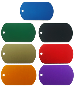 10-Pack-Aluminum-Color-Dog-Tags-Wholesale-Military-GI-ID-Dogtags