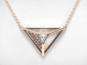 747ab028c0faa Details about HILLOCK TRIANGLE PENDANT WHITE ROSE GOLD PLATING 2017  SWAROVSKI JEWELRY #5345297