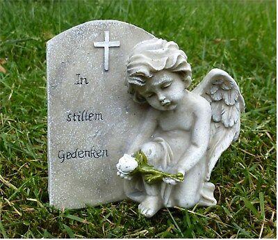 Engel am Herz In stillem Gedenken 16,5 x 11 x 19,5 cm Polyresin Grabschmuck