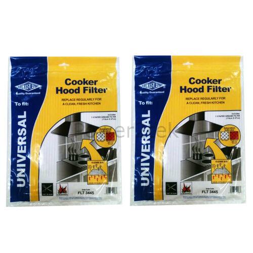 2 x cappa universale filtro anti grasso per estrattore Ventilatore CATA Vent 114 x 47cm