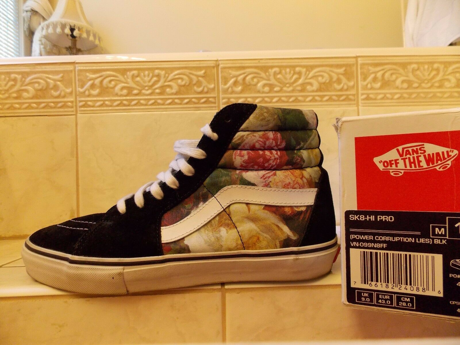 Supreme Vans PCL Power Corruption Lies SK8-Hi Size size 10