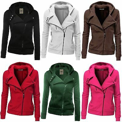 Women Chic Winter Hooded Hoodie Sweatshirt Zipper Sweater Coat Jacket Jumper Top
