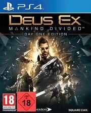 PS4 Spiel Deus Ex Mankind Divided Day 1 Edition USK 18 Paketversand beachten NEU