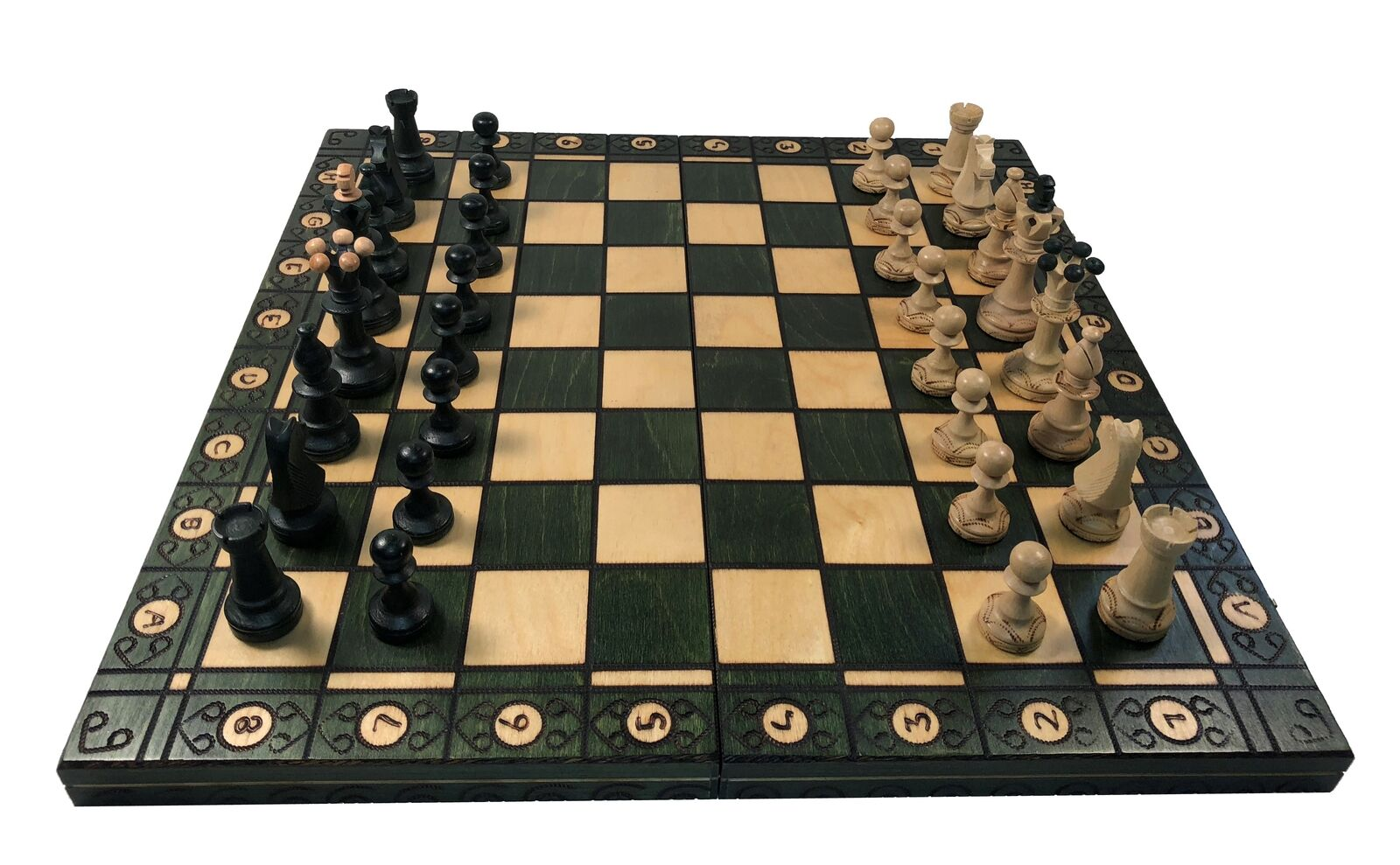 Consul Vert Chess Set - 19  pliant Board -  3 1 2  King - 1 15 16  SQ  jusqu'à 42% de réduction