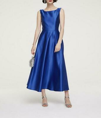 heine damen abendkleid prinzesskleid maxikleid Ärmellos royalblau gr 34 neu  ebay