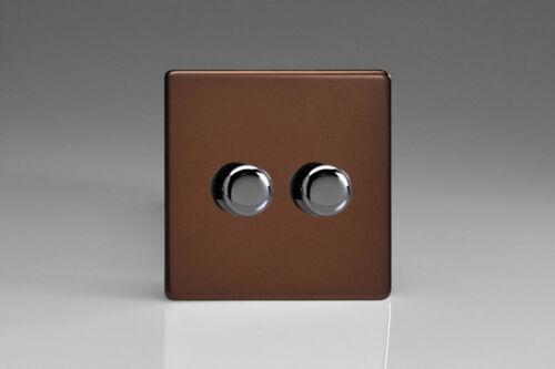 Wattage /& Gang Options Mocha Flat Screwless V-Dim Standard Series Dimmer