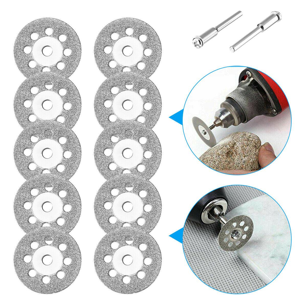 30* Diamond Cutting Wheels Rotary Die Grinder Cutter Cut Off Disc Tool Supplies