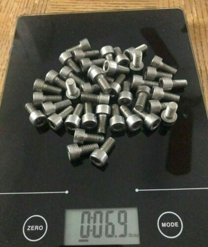 45 M6-12mm S.S Allen Hex Socket Cap Head Screws Stainless Steel Full Thread